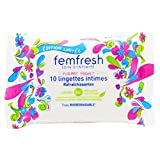 Femfresh - Toilette Intime - 10 Lingettes intimes Rafraîchissantes - Format Pocket