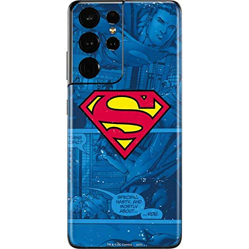 Skinit Decal Phone Skin Compatible with Galaxy S21 Ultra 5G - Officially Licensed Warner Bros Superman Logo Design