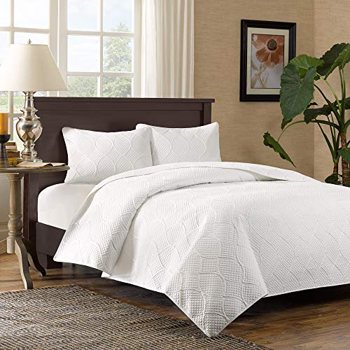 Margaux 3 Piece Coverlet Set - White (Full/Queen)