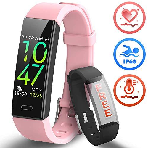 HOFIT Pulsera Actividad Reloj Inteligente Fitness Tracker Podómetro Monitor de...