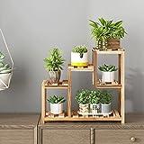 JTWJ Salon Mini Chambre Plante Stand sur la Table en Fer forgé en Bois Multi-étages intérieur différentes Couleurs...