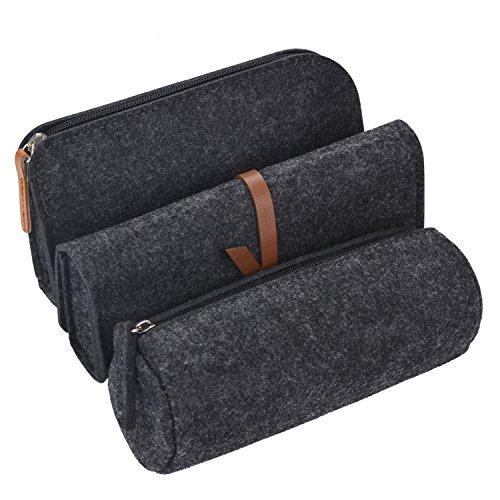 Pencil Case, COOFIT Pencil Pouch Pen Case Pencil Bag Pencil Cases for Adults 3 pcs