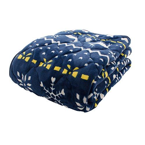アイリスプラザ fondan 敷きパッド シングル プレミアムマイクロファイバー 洗える 静電気防止 クリスマス ギフト 特製BOX入り とろけるような肌触り エアコン対策 秋冬 ベッドパッド 品質保証書付 100×200cm ノルディック柄 ネイビー