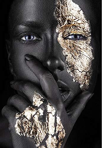 CDNY Mujeres Modernas de Oro Blanco negro-5D Pintura Diamante Kit,-Cristal Diamante Bordado Pinturas Artes Kit-decoración de Pared del hogar40x50cm
