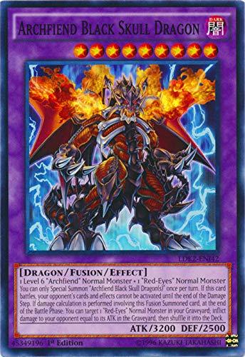 YU-GI-OH! - Archfiend Black Skull Dragon (LDK2-ENJ42) - Legendary Decks II - 1st Edition - Common