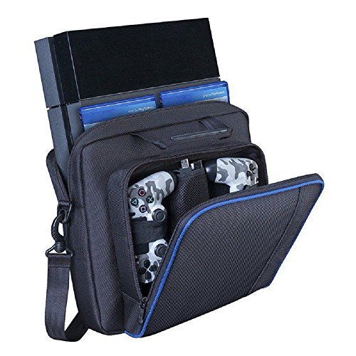 PS4 Case,Lyyes Travel Case Playstation 4 Carrying Case Protective Shoulder Bag for PS4 PS4 Pro PS4 Slim