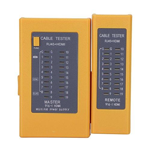Tonysa HDMI HD Kabelprüfgerät,Kabeltester,Tragbares High Definition Digital Kabelmessgerät für Überprüfen von HDMI / RJ45 Kabeln,Kompatibel mit automatischem Testen