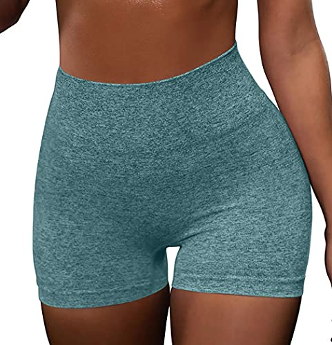 OQQ 3 Piece for Women Yoga Shorts Workout Athletic Seamless High Wasit Gym Leggings DarkGreen Grey Blue