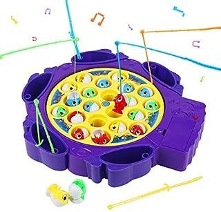 Symiu Juegos de Mesa Juguete de Pesca con 6 Caña de Pescar y 21 Peces Juguetes Musicales Juego Educativo Regalos para Niño...