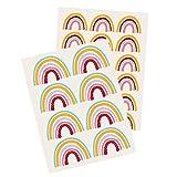Yabaduu Y004 Regenbogen Wandtattoo Wandsticker Aufkleber für Kinderzimmer Babyzimmer (Bunt)