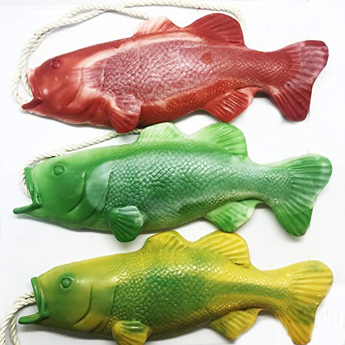 Pack of 3 Bass Fish Soap on a Rope