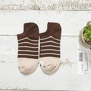 5 Pares de Calcetines de Mujer Confort Casual algodón niñas Tobillo Arte Calcetines Duradero bajo Invisible calcetín Femenino Rayado calcetería Linda