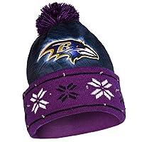 Baltimore Ravens Big Logo Light Up Printed Beanie