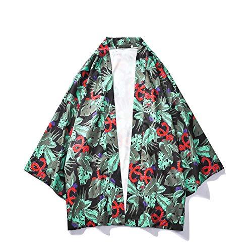 DXHNIIS Planet Print Kimono Camisas extragrandes de Manga Tres Cuartos para Hombre Sunprotecter Camisa de Hombre Street Clothing L Camisa para Hombre: Amazon.es: Deportes y aire libre