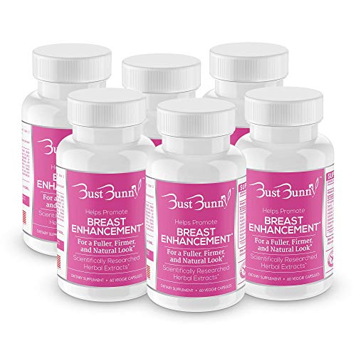 Breast Enhancement Pills - Vegan Friendly - 6 Month Supply | #1 Natural Way to Enlarge Breast and Increase Bust Size by BUST BUNNY