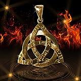 Wizard Work Argent Amulette Celtic Triquetra Force de la trinité Ancient Power Sterling et plaqué Or