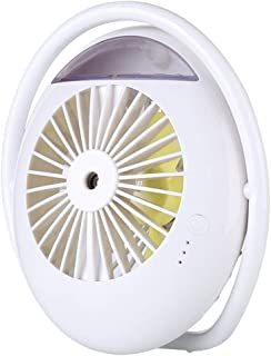 Table Fan 2000mAh Battery Fan Mini Portable Table Fan for Home Outdoor Office Desktop Fan (Color : White)