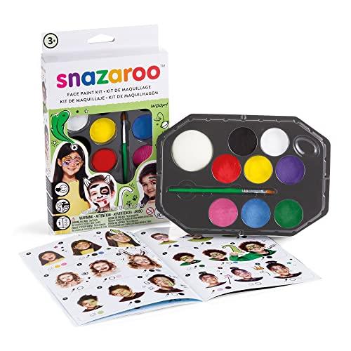 """Snazaroo kit de pintura facial, maquillaje fiesta """"Arcoíris"""""""