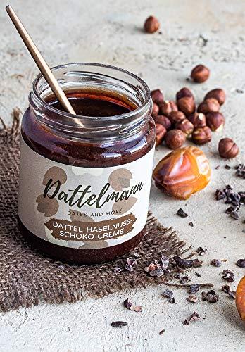Bio Dattelcreme mit Haselnuss und Kakao | Dattel-Haselnuss-Schoko-Creme | 100% Natürlich & Gesund | Premium Qualität | Palmyra Delights | Vegan | Glutenfrei (250)