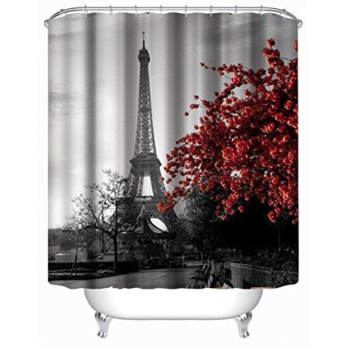 GYMNLJY 3D Duschvorhang Polyester Blackout Bad Dusche Rollo für Bad Water-Repellent und antibakterielle verdicken Dusche Vorhänge hängen Vorhang abgeschnitten , 180cmx180cm