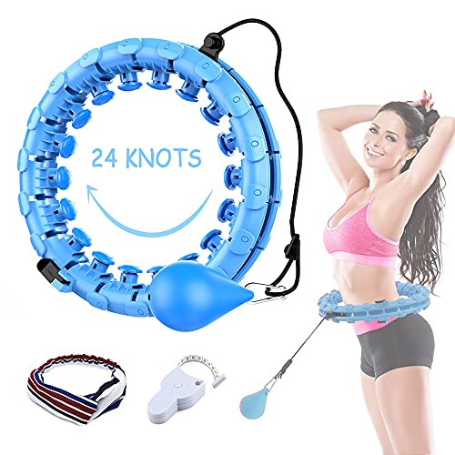 TDCQ Smart Gewichtsverlust Hullahub,Hoola Reifen mit Ball,Auto-Spinning Ring,Fitnessreifen Intelligenter Einstellbarer Breiter,Smart Gewichtsverlust Fitness Reifen
