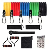 Exercise Resistance Bands,Liford 11 Pack Sport Resistance Bands ,Workout Equipment for Women Men Home Gym, Home Workouts,Physical Therapy,Gym Training,Yoga