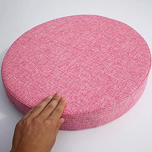 MSM Verdicken Sie Runde Sitzkissen, Tatami Bay-Fenster Balkontür Runde Japaner Sitzkissen Große Futon Stuhl-pad, 8cm Dick-rosa Durchmesser: 40cm