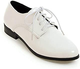 Bonrise Women¡¯s Perforated Lace-up Slip-On Comfortable Pointy Toe Oxford Low Heel Vintage Oxfords Shoes