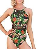 Aibrou Costume da Bagno Intero Donna Vita Alta Bikini Imbottitura Swimsuit Estraibile Beachwear Costumi Interi Donna Un Pezzo Mare