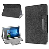 UC-Express Tablet Schutz Hülle für 10 Zoll Filz Tasche Schutzhülle Hülle Cover Standfunktion, Tablet Modell für:ARCHOS 101c Platinum, Farbe:Dunkel Grau