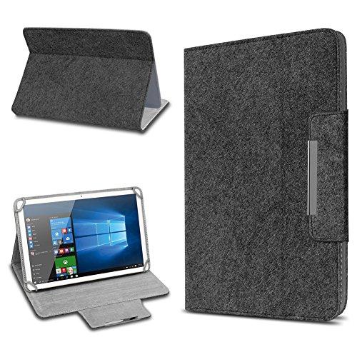 UC-Express Tablet Schutz Hülle für 10 Zoll Filz Tasche Schutzhülle Hülle Cover Standfunktion, Tablet Modell für:Odys Score Plus 3G, Farbe:Dunkel Grau