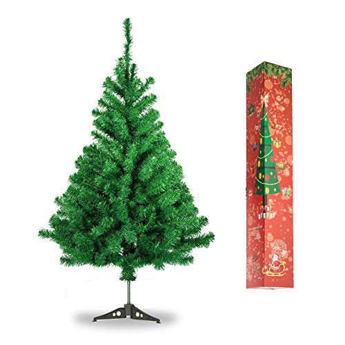 3 Foot Artificial Small Christmas Tree | Includes Stand | Mini Kincaid Spruce (Green, 35.4inch)