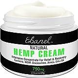 Max Strength Back Pain Relief Cream, 2.3oz Purest 750mg Hemp Extract Hemp Cream Ointment Rub for...