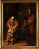 フレーム Rembrandt Harmenszoon van Rijn ジクレープリントキャンバスプリント絵画ポスター複製(放蕩息子の帰還)