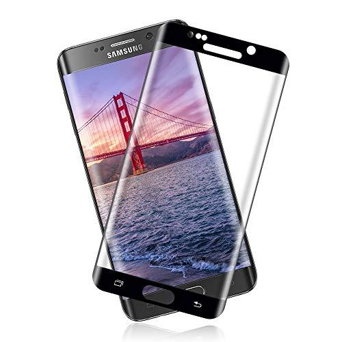 Cristal Templado para Samsung Galaxy S6 Edge, Protector de Pantalla Dureza 9H, Sin Burbujas, Anti-Huellas Digitales, Ultra Claridad (2 Unidades)
