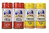 Carne Asada Chef Merito 2 Beef and 2 Chicken Seasonings 14oz (Pack of 4)