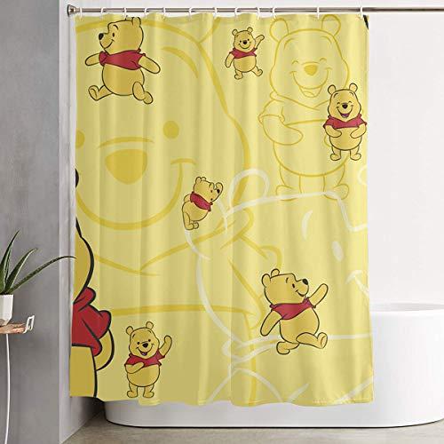 LIUYAN Duschvorhang mit Haken – Winnie Pooh Wasserdichter Polyester-Stoff für das Badezimmer Deko, 152,4 x 182,9 cm