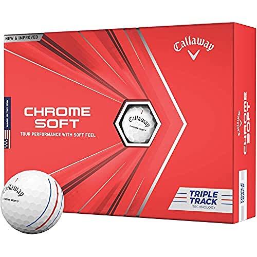 2020 Callaway Chrome Soft Golf Balls (Triple Track...