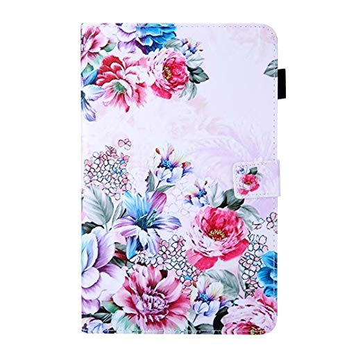 Case for All-New Samsung Galaxy Tab A 8.4 Inch 2020 Release Model SM-T307, Shockproof PU Leather Slim Lightweight Smart Case Protective Cover with Stand Fit Galaxy Tab A 8.4 2020 Tablet Rose flower
