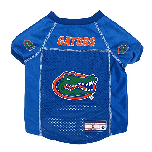 Littlearth NCAA Florida Gators Pet Jersey, Small, Team Color (120134-UFLA-S)