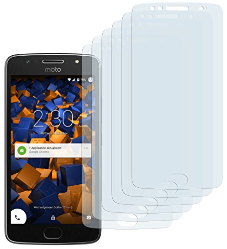 mumbi Schutzfolie kompatibel mit Motorola Moto G5S Folie klar, Displayschutzfolie (6x)