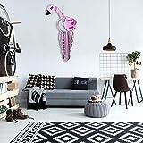 Xiangpian183 Flamingo Shaped Traumfänger, Windspiele Häkeln Design Dreamcatcher Wandkunst Hängende Verzierungen Hauptdekoration Für Haus, Wand, Tür, Schlafzimmer, Wohnzimmer, 65cm