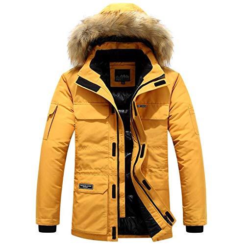 Winter Verdicken Jacke Baumwolle Kleidung Lange Kapuze Abnehmbare Kragen Trend Mäntel Herren Mode Daunen Parkas Plus Size 5XL 6XL L Orange