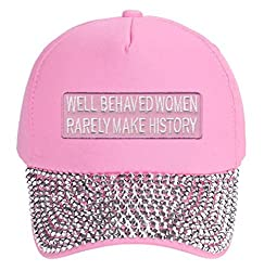 Rarely Make History - Adjustable Pink Rhinestone Studded Cap