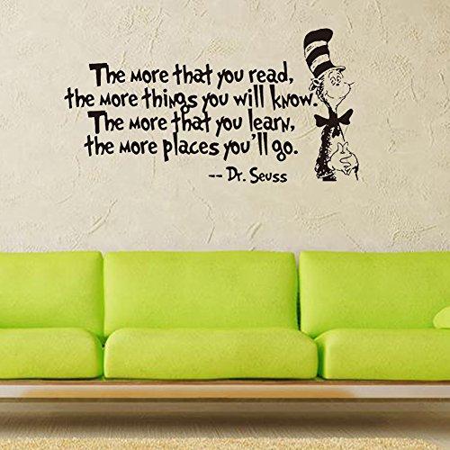 Autocollant Mural The More Sticker Mural Dessin Animé Proverbes Anglais, Sticker Décoratif Mural Chambre À Coucher Salon