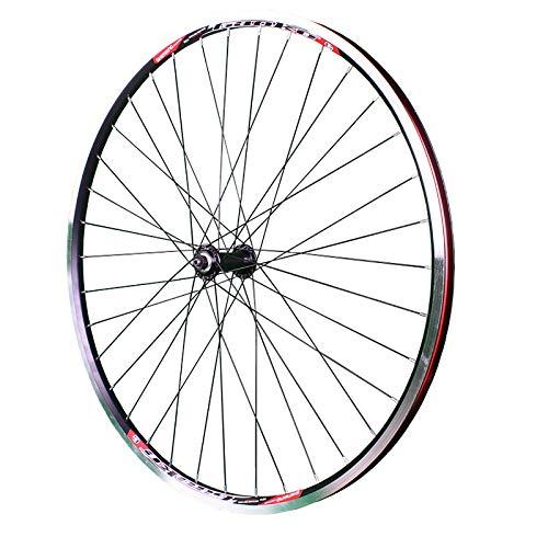 QDY-Juego de Ruedas de Bicicleta 700C V Freno Rueda Delantera Rueda de Viaje de Bicicleta de Carretera Rueda de Aleación de Aluminio