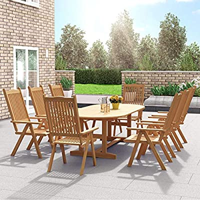wooden garden dining furniture