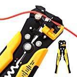 Wire Stripper, VANTRONIK Self-Adjusting Stripping Crimper Cutter tools for wires from 10 AWG to 24 AWG, 3 in 1 Automatic Multi Pliers