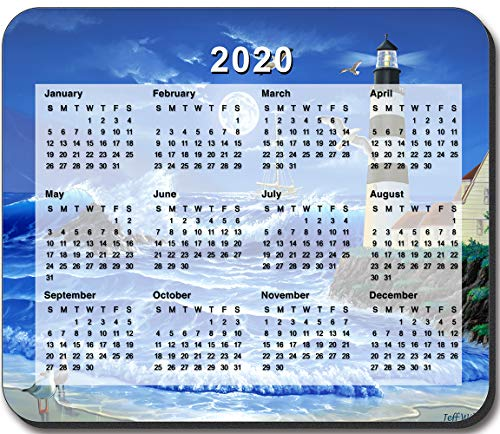 Art Plates Brand - Lighthouse at Night Mouse Pad - with 2020 Calendar