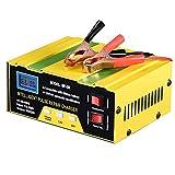 Sundey Cargador de Batería de Coche 10a 12V / 24V Cargador Inteligente AutomáTico Monitor de Carga Mantener la Batería para Batería de Plomo áCido Enchufe de la UE